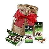 Cavalier chocolate variety by The Yummy Palette | Cavalier chocolate with Stevia Cavalier Belgian chocolate in Basically British Burlap Bag