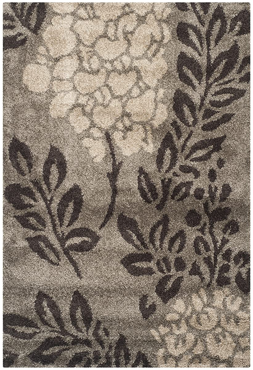Safavieh Florida Shag Collection SG456-7928 Smoke and Dark Brown Area Rug (8 x 10)