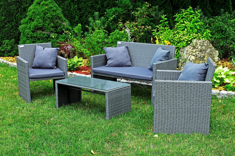Gartenmöbel Polyrattan Lounge Sofa Gartenset Garnitur Sitzgruppe SAPPHIRE SOFIA jetzt kaufen