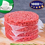 Restaurant-Grade Hamburger Patty Paper 1000 Pack By Avant Grub. Non-Stick, Waxed Food-Grade Squares 5.5 x 5.5. Larger Size For Huge Burgers. Freezer Safe For Beef, Turkey, Bison and Other Patties