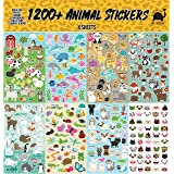 Josephine on Caffeine Animal Sticker Sheets (1200+ Count) Collection for Children, Teacher, Parent, Grandparent, Kids, Craft, School, Planners & Scrapbooking