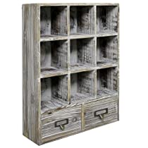 Rustic Dark Brown Wood Shadow Box