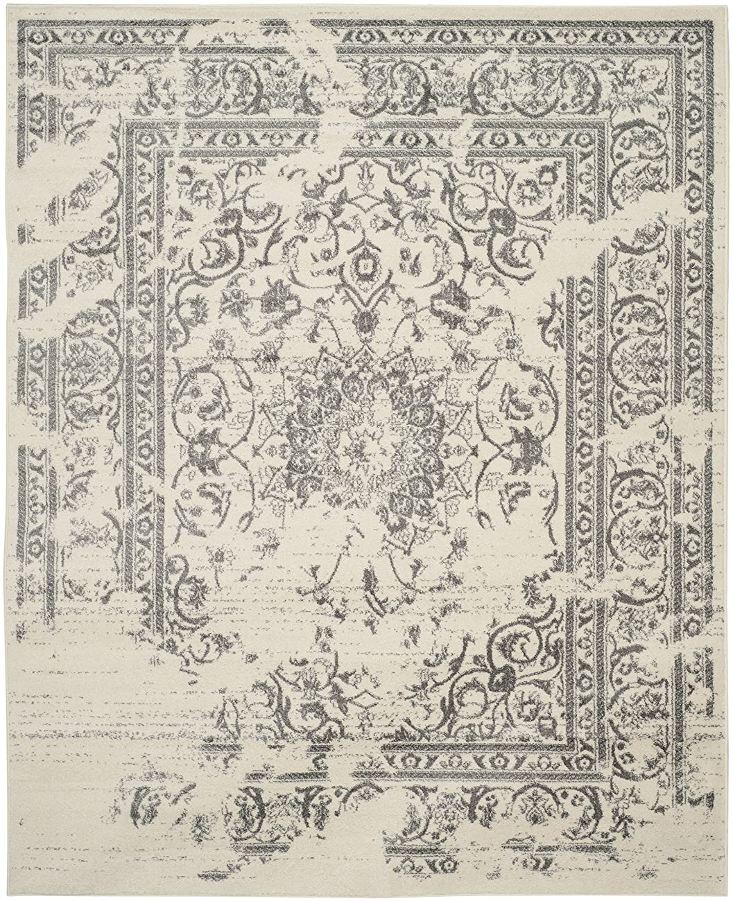 Safavieh Adirondack Collection ADR101B Ivory and Silver Oriental Vintage Area Rug (8' x 10') 1