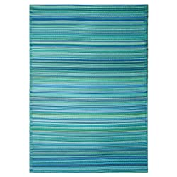 Fab Habitat Cancun Indoor/Outdoor Rug Turquoise and Moss Green