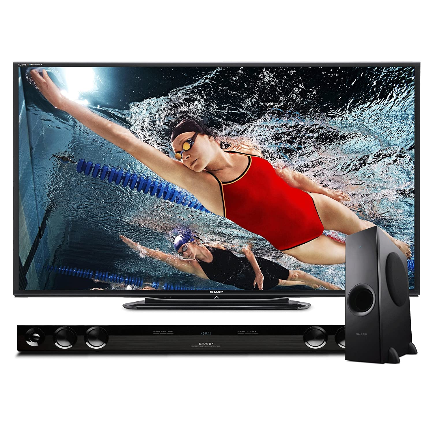 Sharp 60C7500 Quattron LED HDTV and HT-SB40 Sound Bar Bundle $1,299.99