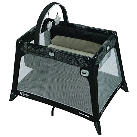 Graco 1943815 Nimble Nook, Lettino da viaggio combinato con recinto e integrato culla, Pierce