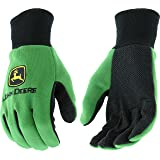 West Chester John Deere JD00002 Knit Polyester/Cotton All Purpose Work Gloves with Dotted Palms: Green, Youth, 1 Pair (Color: Green, Tamaño: Youth)