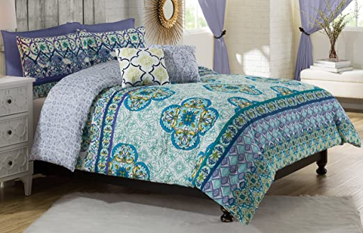 4 Pc Vue Cleo Twin Xl Comforter Set Girl S Dorm Room