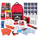Rescue Guard; First Aid Kit, Hurricane Kit, Disaster Kit or Earthquake Kit; Emergency Survival Kit, Bug Out Bag Supplies, Survival Gear for 6 Day/ 72 Hours, 2 People (Basic Survival Pack) (Color: Red, Tamaño: Basic Survival Pack)