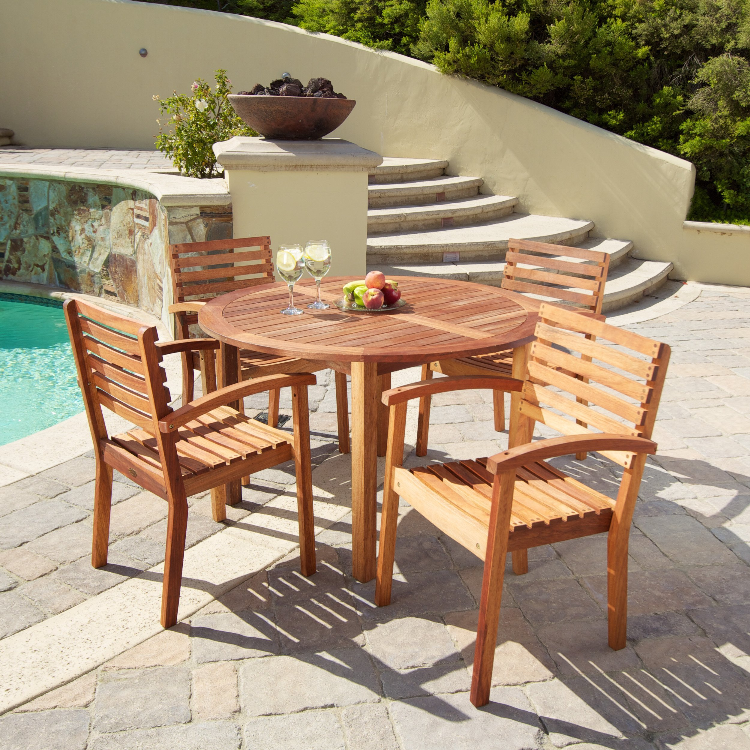 Naples 5pc Outdoor Dining Set