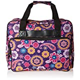 Janome Universal Purple Sewing Machine Tote, Canvas (Color: Purple Paisley)
