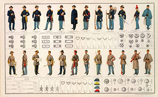 Civil War Posters Union Confederate American Civil War Poster