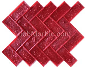 Stamped Concrete Stamp Brick Stamp Mat Herringbone Brick Pattern SM 4100
