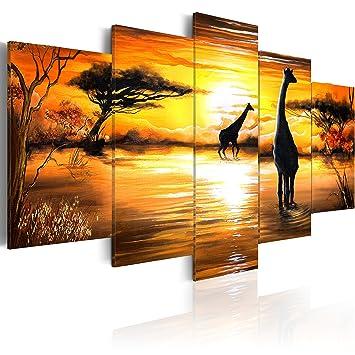 impression sur toile toile 200x100 cm grand format 5 parties parties image sur. Black Bedroom Furniture Sets. Home Design Ideas