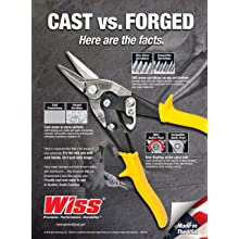 Wiss M1R MetalMaster 1-3/8-Inch Cut Capacity 9-3/4-Inch Straight and Left Cut Compound Action Snip