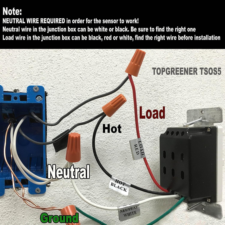 wall occupancy sensor wiring diagram free picture tsos5 pir motion    sensor    light switch detector infrared  tsos5 pir motion    sensor    light switch detector infrared