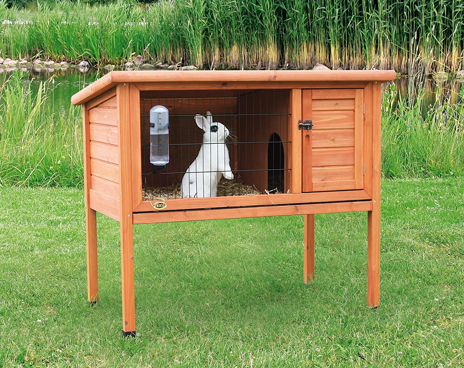 Rabbit house plans 50 diy rabbit hutch plans to get you for Diy hutch plans