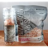 Westlab Himalayan Pink Salt - 4oz. Grinder with Free 1lb Refill Pouch (Coarse) (Tamaño: 4 oz Grinder and 1lb bag)