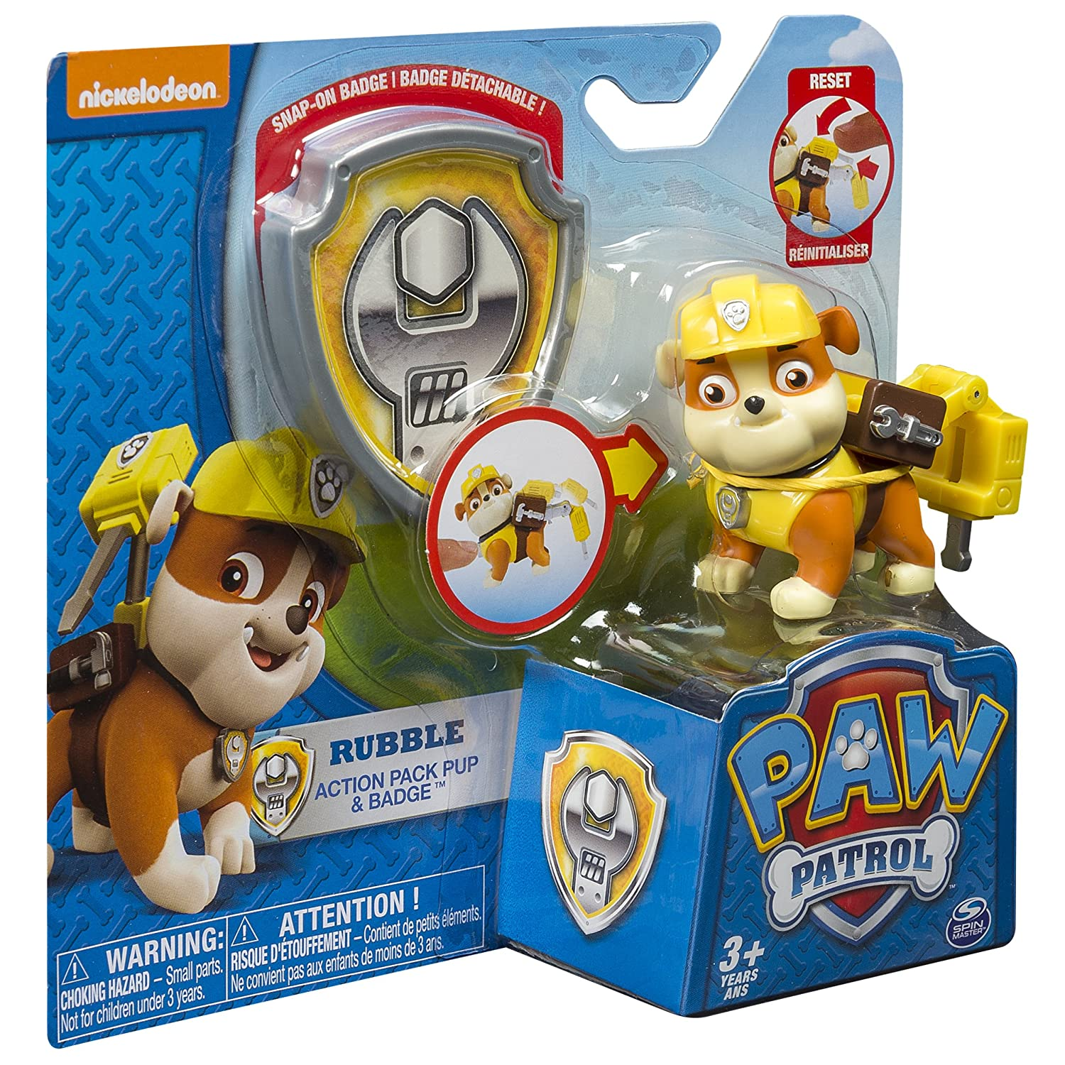 Paw Patrol Action Pack Pup & Badge, Rubble