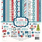 Echo Park Paper Company I I Love Winter Collection Kit (Tamaño: 1-Pack)