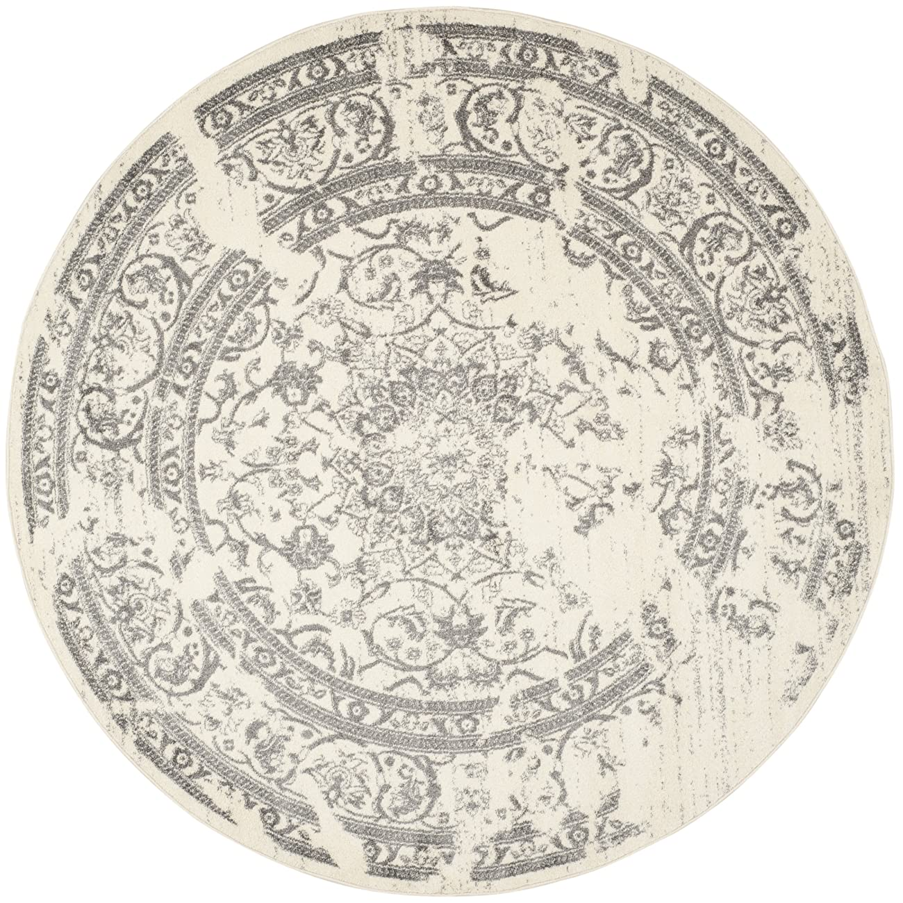 Safavieh Adirondack Collection ADR101B Ivory and Silver Oriental Vintage Round Area Rug (8' Diameter) 1