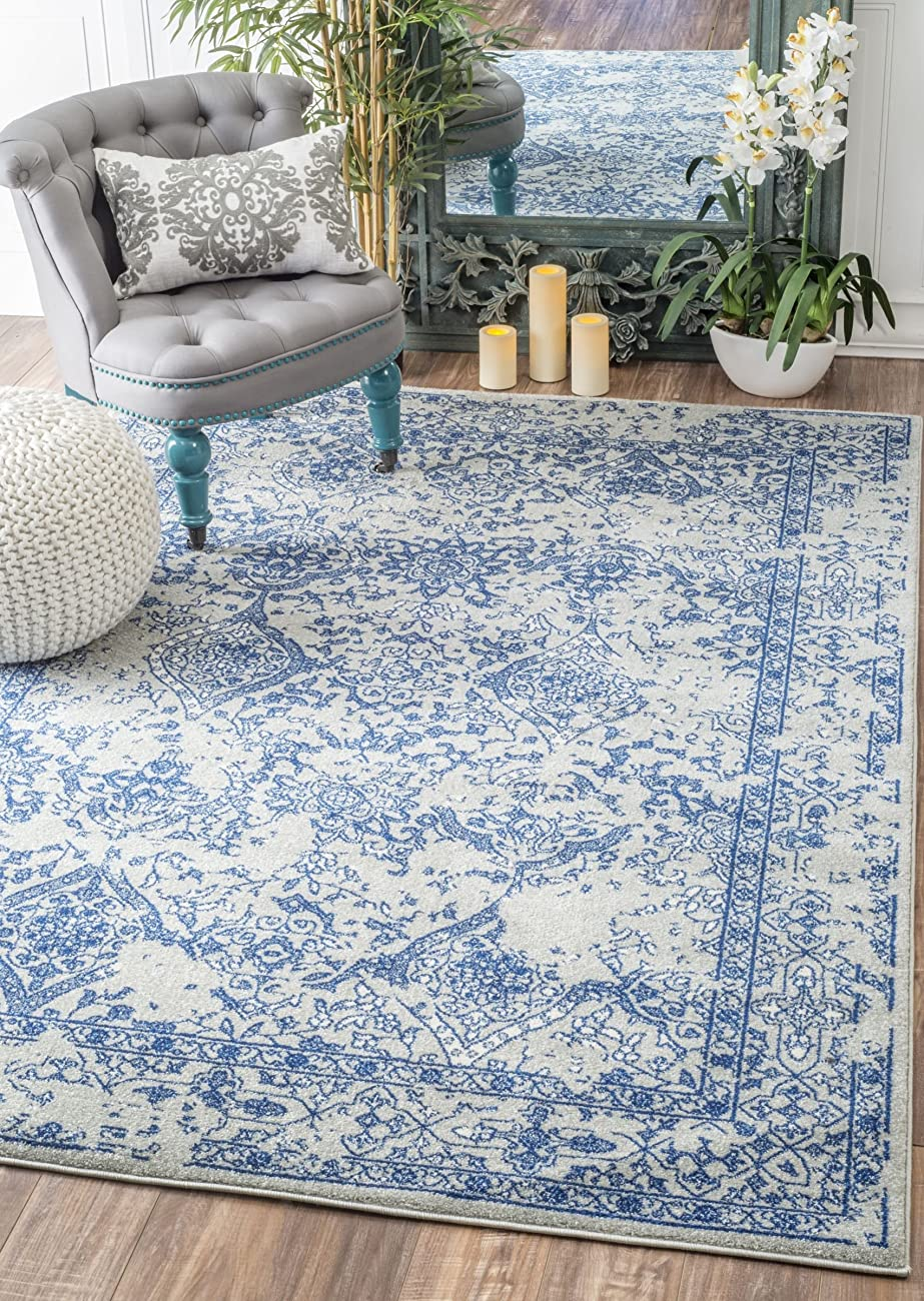 nuLOOM Vintage Odell Area Rug, Light Blue, 7' 10