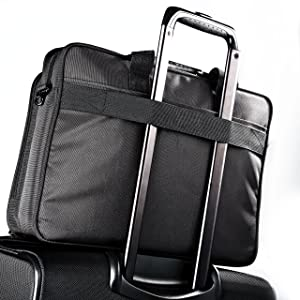 Samsonite Classic Business Perfect Fit Two Gusset Laptop Bag - 15.6 Black (Color: Black, Tamaño: One Size)
