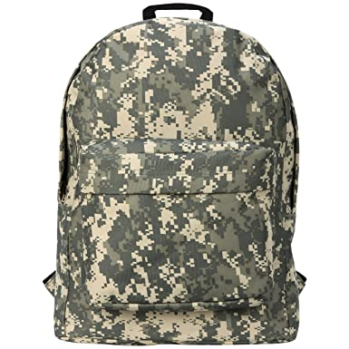 ... ACU Digital Camouflage Pattern Outdoor Hiking Backpack School Book Bag