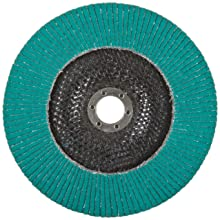 "3M Flap Disc 577F, T29, Alumina Zirconia, Dry/Wet, 7"" Diameter, 80 Grit, 111/128"" Center Hole Diameter (Pack of 1)"