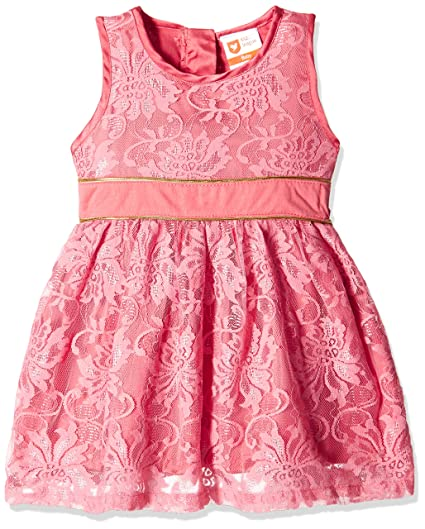 612 League Baby Girls' Dress (ILW16I72001_Coral_18-24 months)
