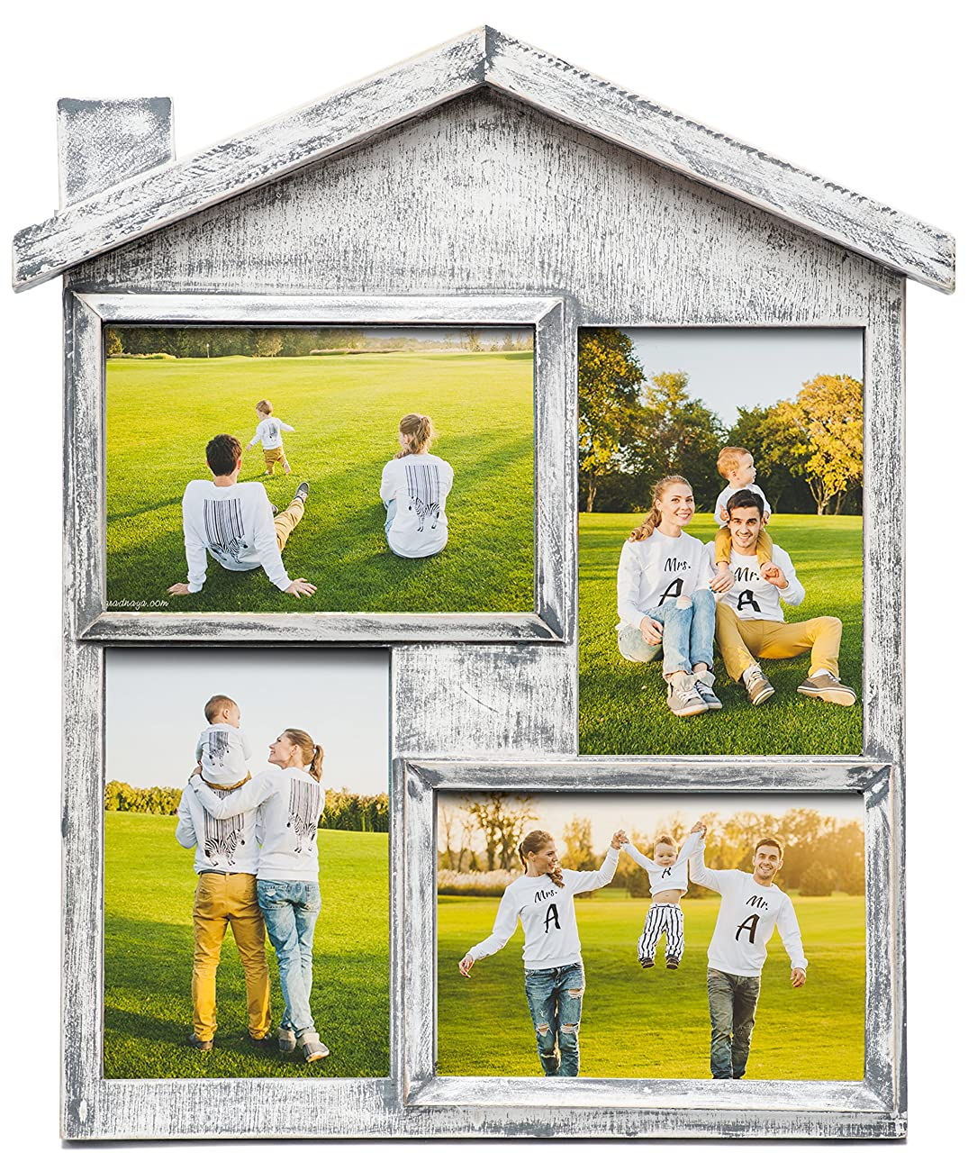 Collage Picture Frame – High Quality Gift – 4x6 Photo Collage Solid Wood - for Family Love and Best Friends 0