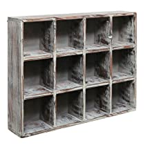 Dark Brown Wood Shelf Rack