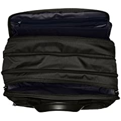 Expandable Organizer Laptop Brief 26141: Black