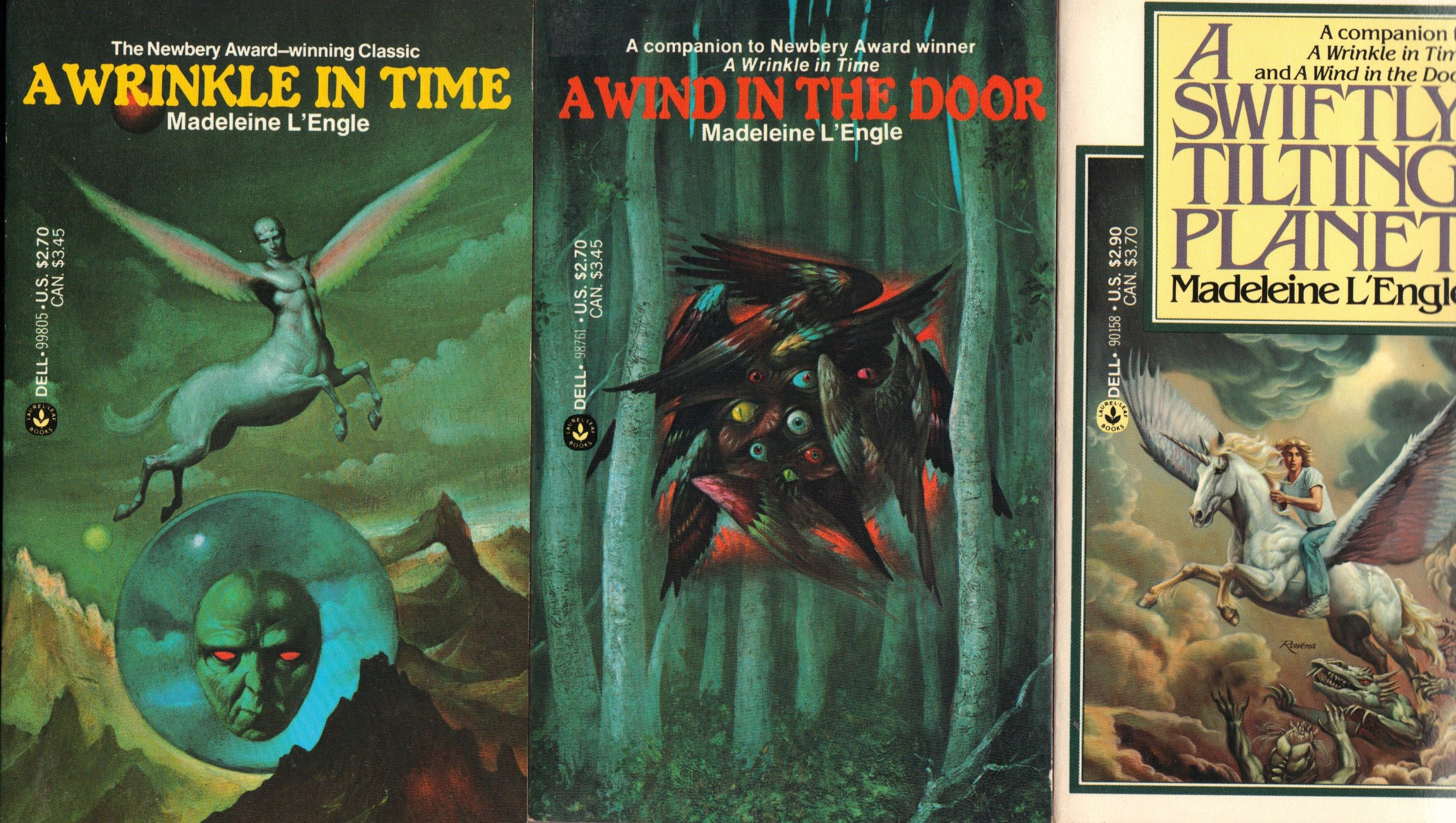 Madeleine L'Engle's Time Trilogy: A Wind in the Door; A Swiftly Tilting Planet; A Wrinkle in Time, L'Engle, Madeleine