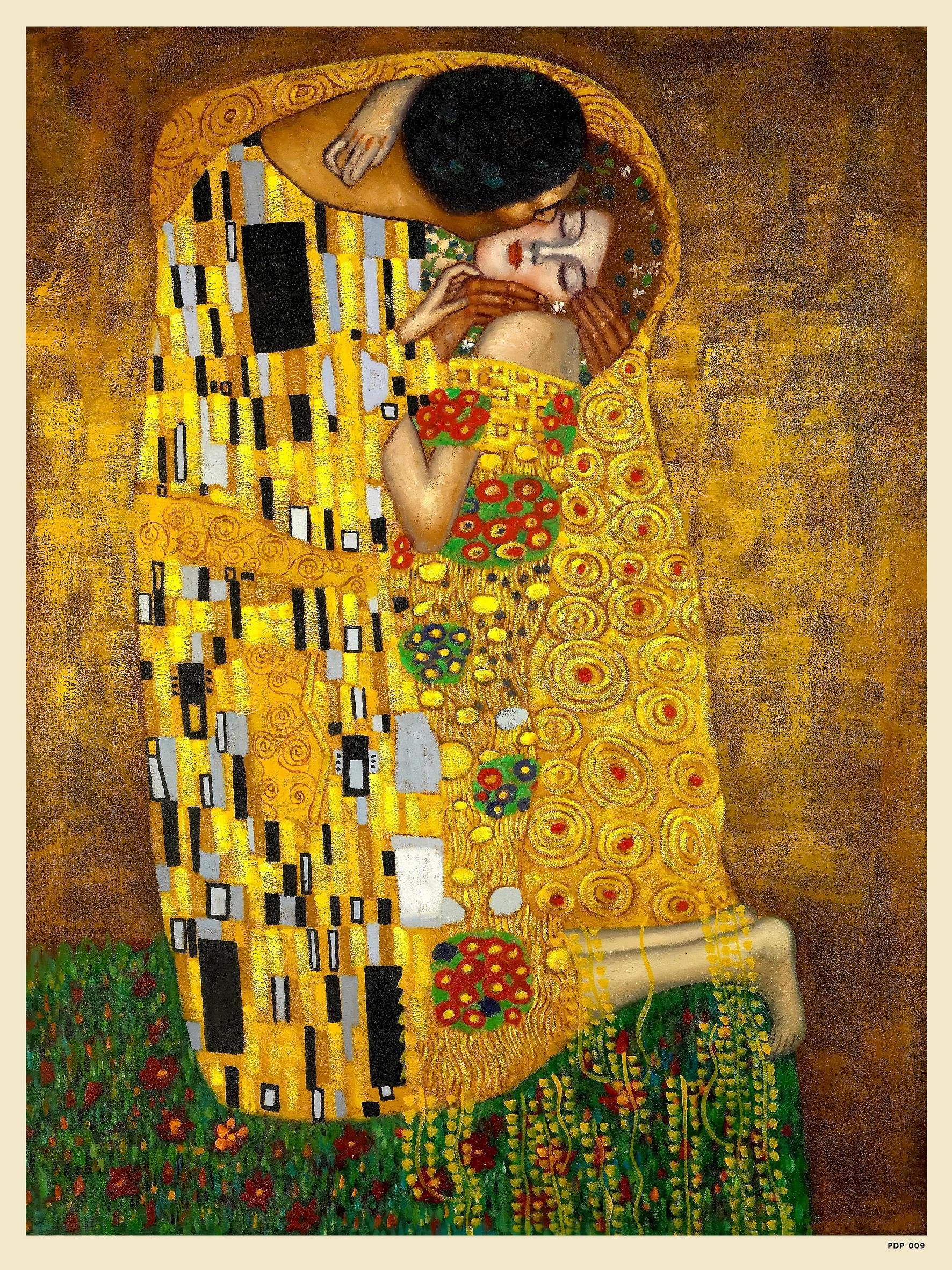 Gustav Klimt - The Kiss - Painting