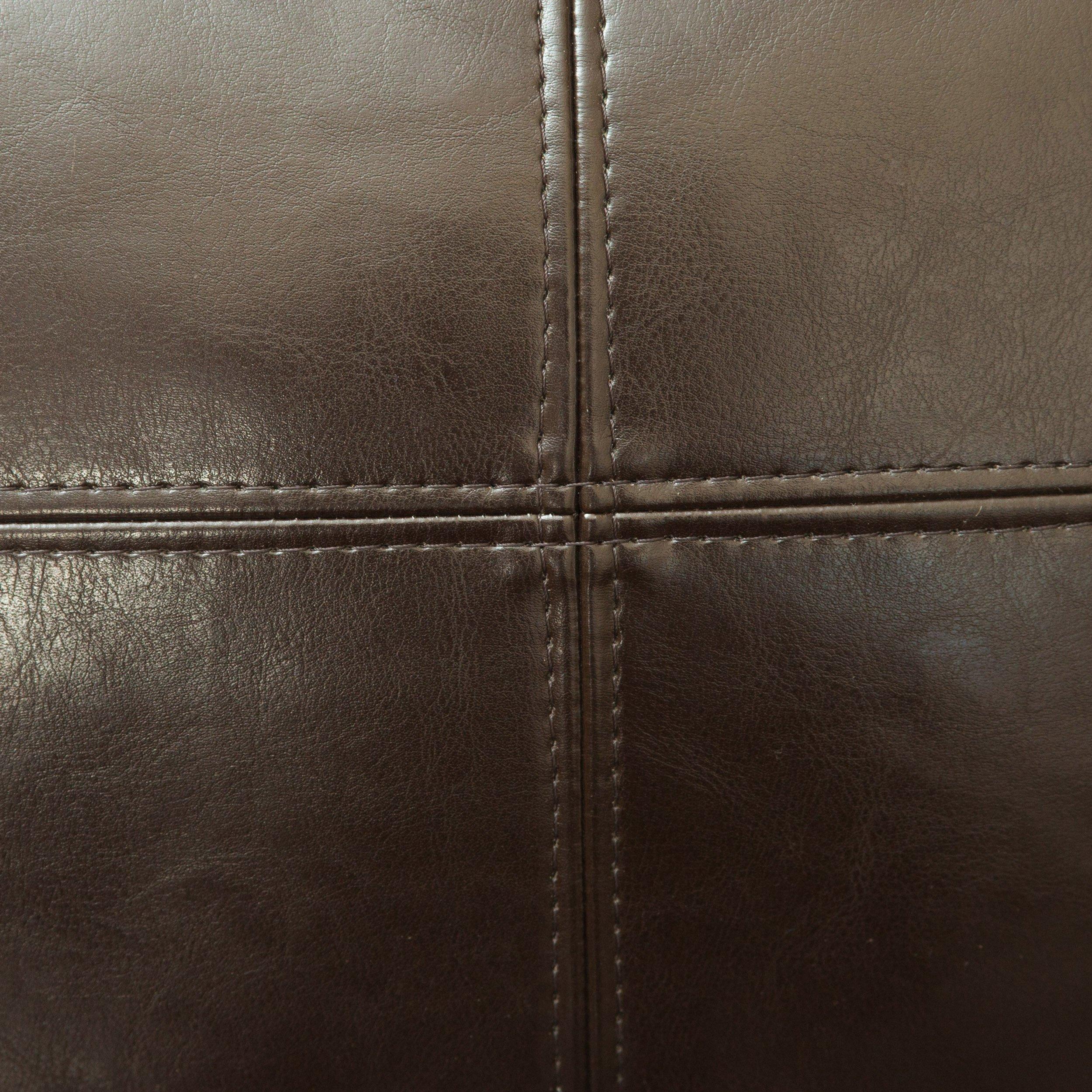 Laguna Brown Leather Chaise Lounge FurnitureNdecor