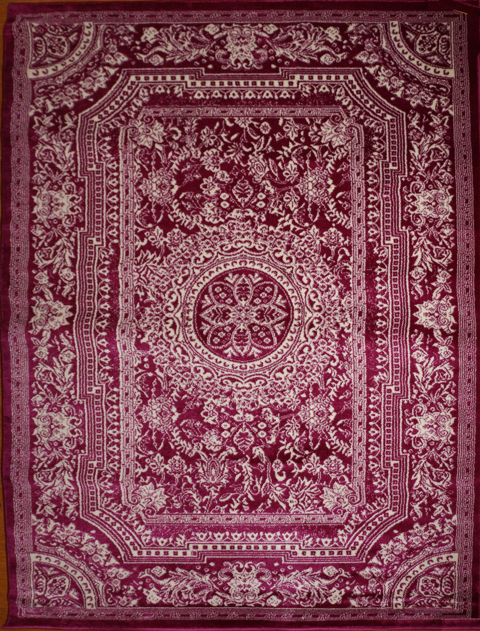 French Oriental Rugs : Feraghan new city traditional french floral wool persian
