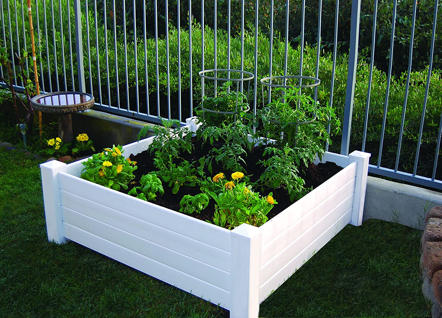 ... Garden Design With Amazon.com : Lifetime Raised Garde Bed Kit, Beds And  With