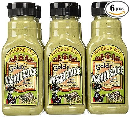 Wasabi Hot Sauce Gold's Wasabi Sauce,with