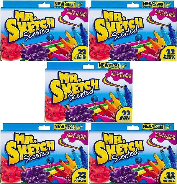 Mr. Sketch Chiseled Tip Marker (2054594) Pack of 5