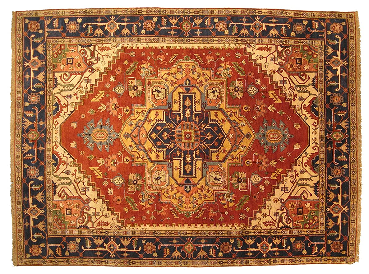 EORC P10BRT Hand Knotted Wool Serapi Rug, 3 by 5-Feet