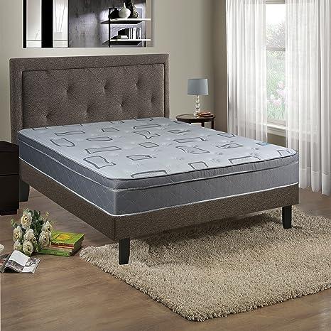 Continental Sleep Mattress,  Foam Encased 10 Inch Eurotop Pillowtop Fully Assembled Orthopedic Queen Mattress, Beautiful Rest Collection