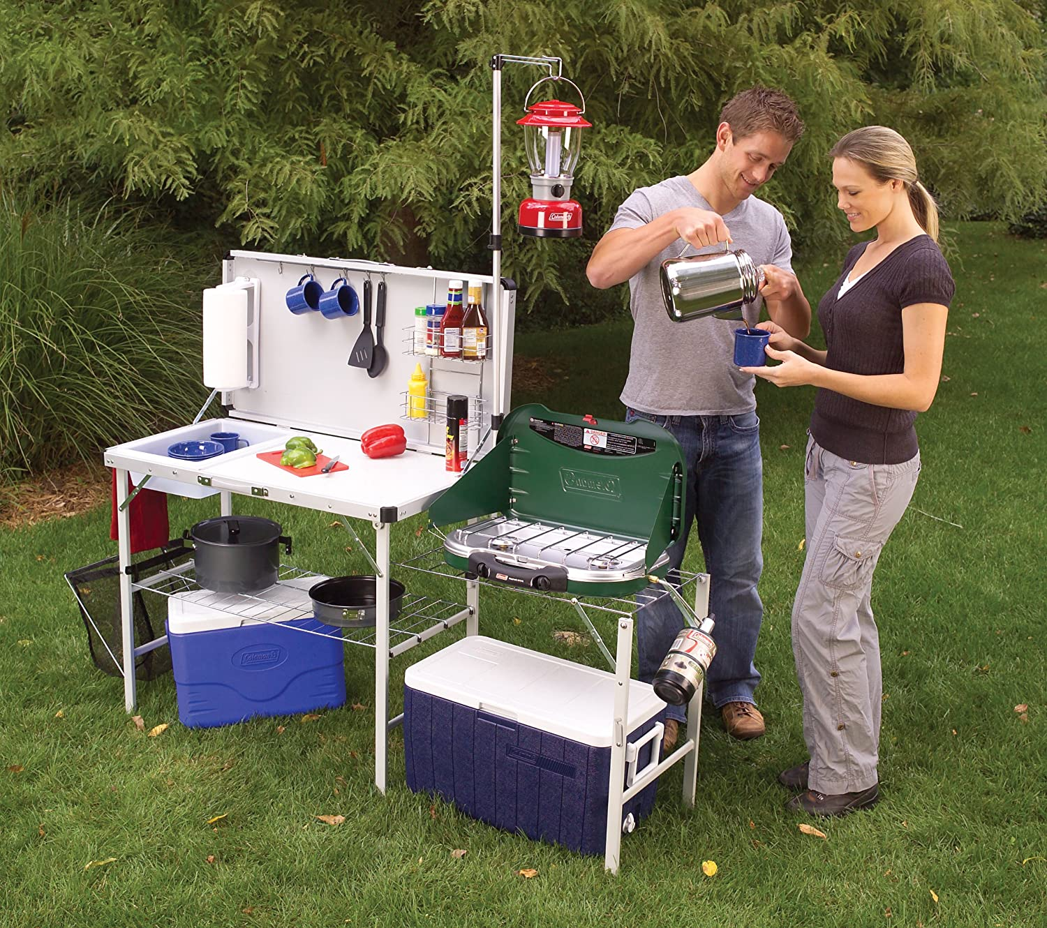 Grub hub camp kitchen for Kitchen set portable