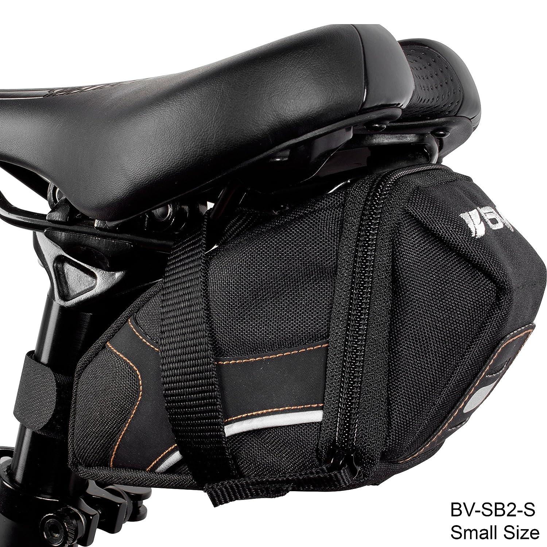 Cycling Wedge Multi-Size Options BV Bicycle Y-Series Strap-On Bike Saddle Bag//Bicycle Seat Pack Bag