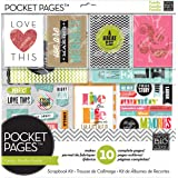 me & my BIG ideas Pocket Pages Scrapbook Page Kit, Family Time, 12-Inch by 12-Inch