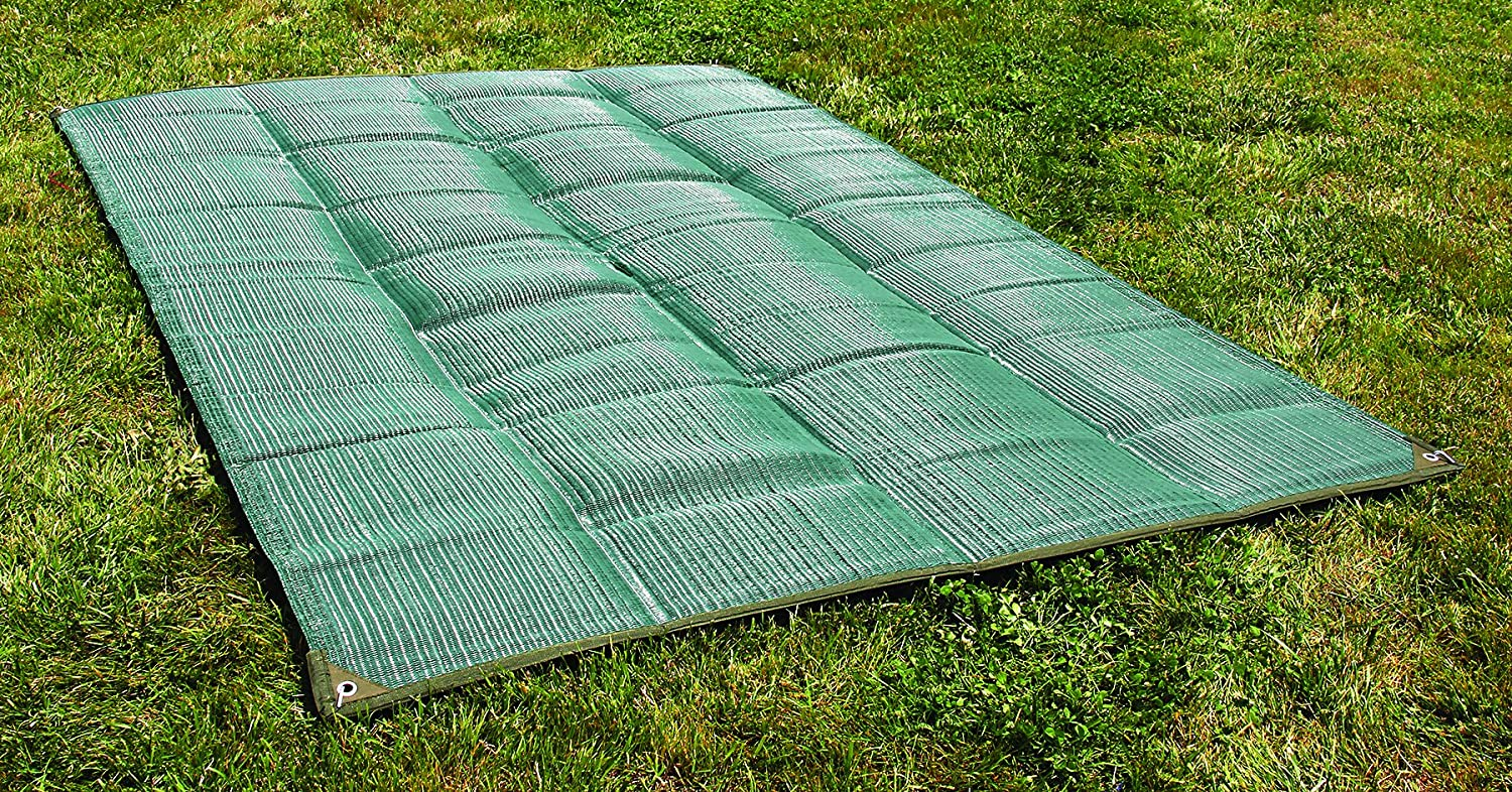 RV TRAILER PATIO BEACH CAMPING REVERSIBLE OUTDOOR MAT 6X9