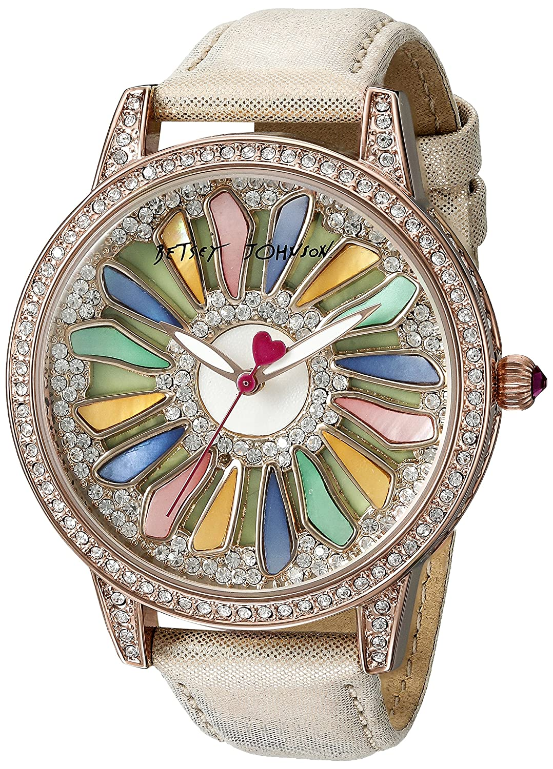 Betsey Johnson Women's BJ00563-01 Analog Display Quartz Rose Gold Watch
