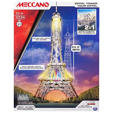 Meccano - 6024900 - Jeu de Construction - Tour Eiffel Lumineuse