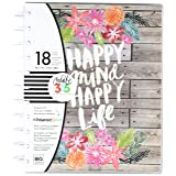 me & my BIG ideas Create 365 The Big Happy Planner, Happy Mind, Happy Life 2018 (Color: Brown/Rustic/Floral, Tamaño: Big)
