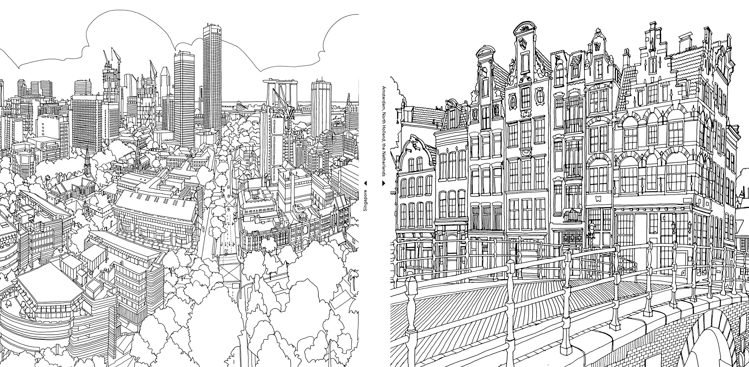 Buy Fantastic Cities: A Coloring Book of Amazing Places Real and ...